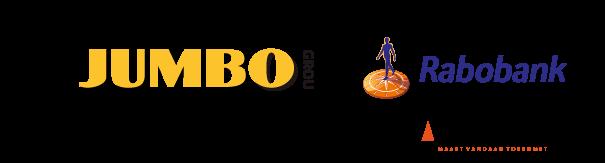 hoofdsponsors JUMBO en Rabobank Co Sponsor Van Vuuren en Lont